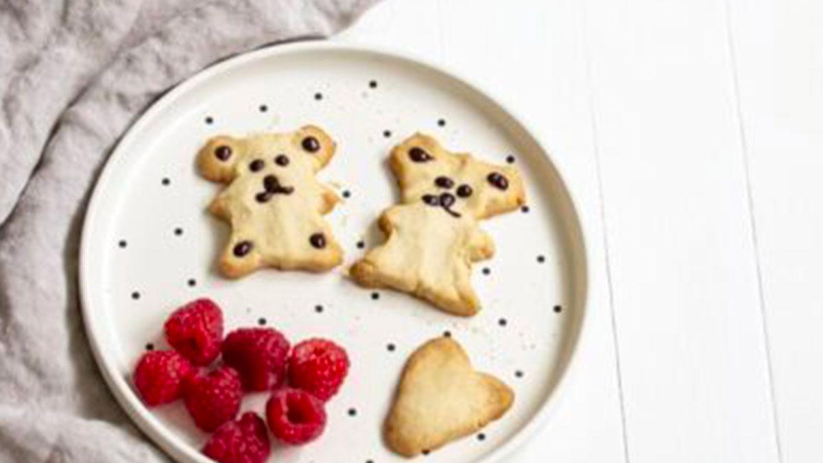 Butter & chocolate little bear cookies