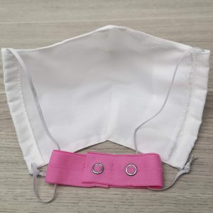 attache pour masque rose
