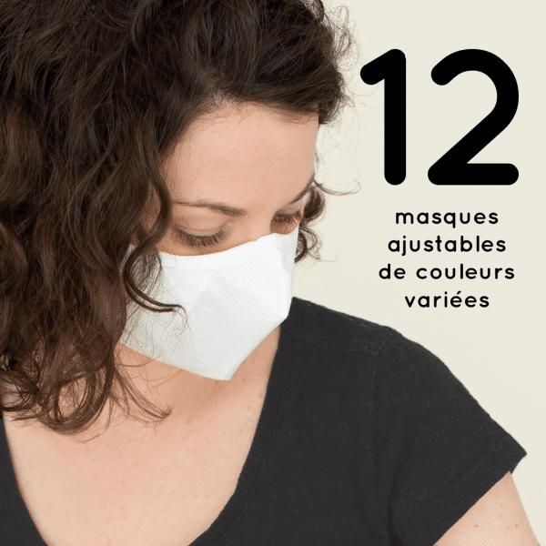 12 masques couvre-visage différents