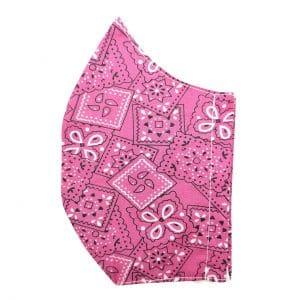 masque bandana rose