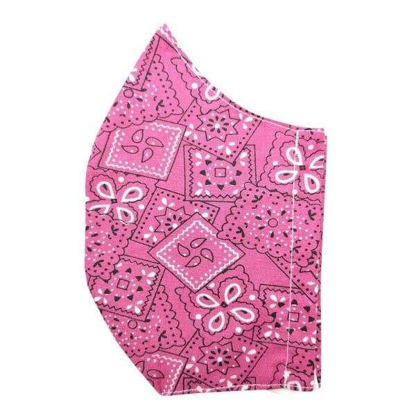 masque bandana rose