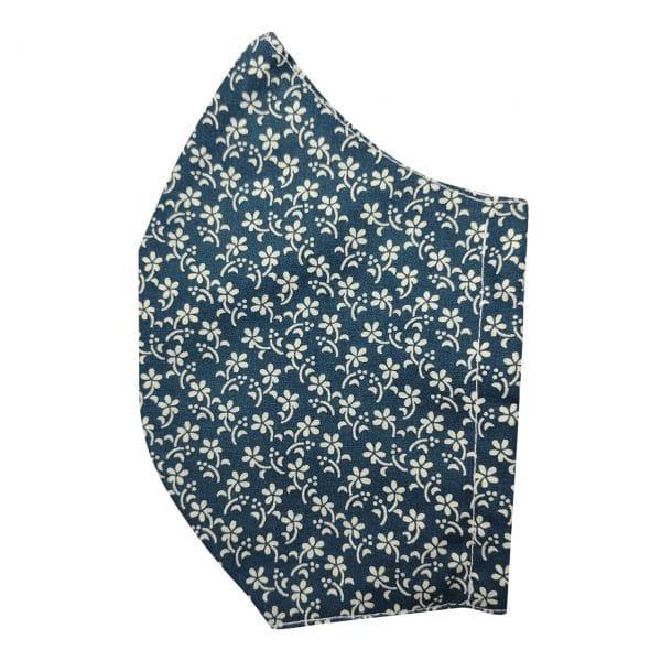 masque fleur bleu