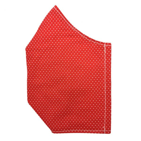 masque rouge pois