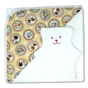 serviette de bain écussons mignons