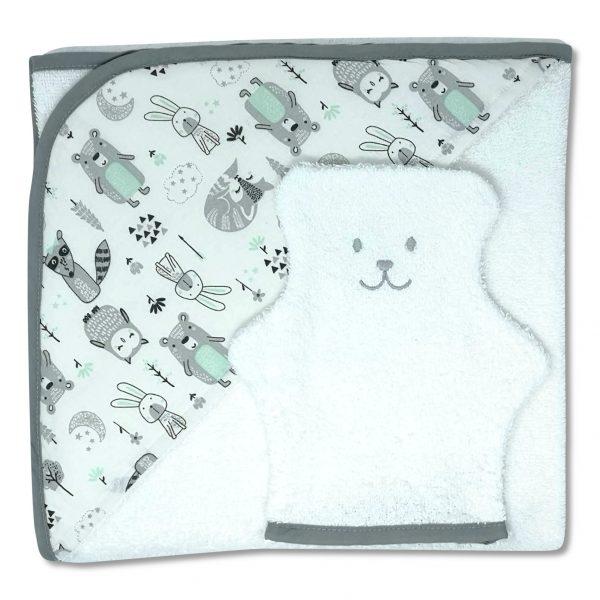 serviette de bain forêt enchantée